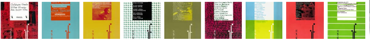 shannon : 30 couvertures de la revue de poésie if 1992-2007 : logo jérôme oudin