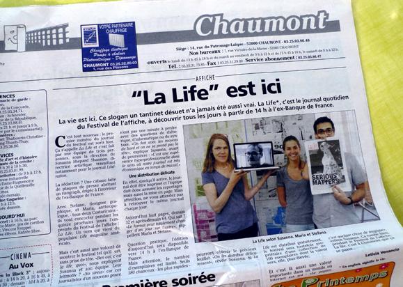 shannon : hervy : giustiniani : la life : quotidien du festival de chaumon : 2012 : d