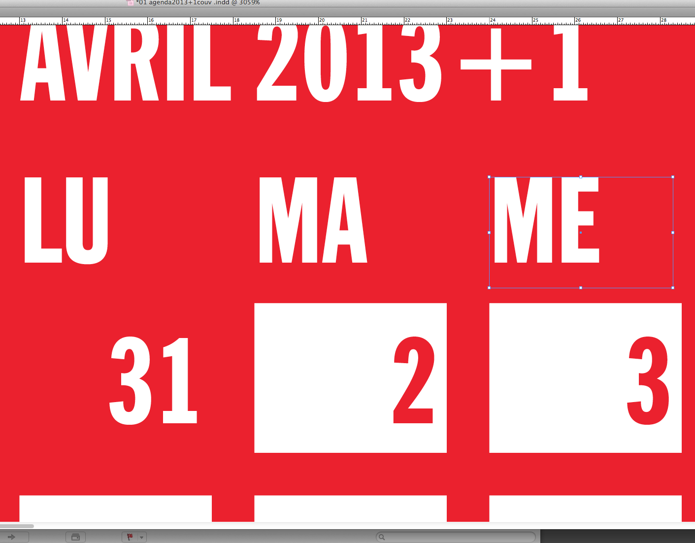shannon : houbard : boileau : violy : agenda design dept. irregulomadaire 2013+1 b