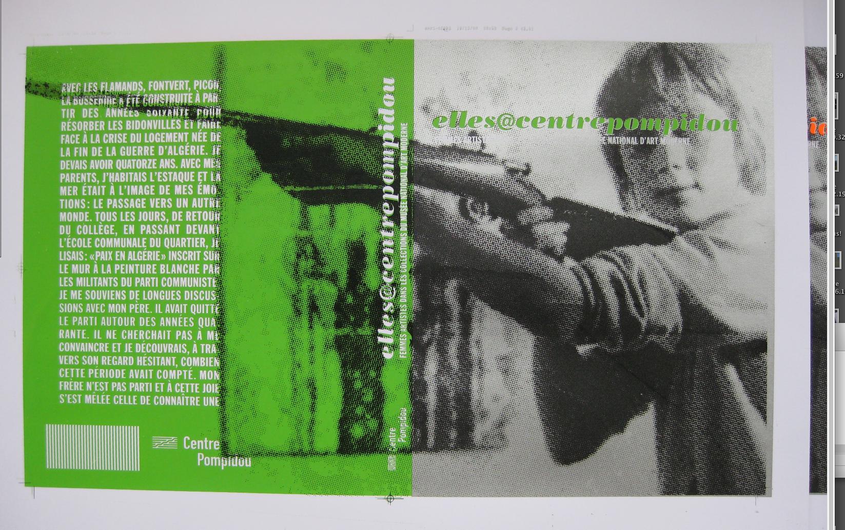 shannon : houbart : design du catalogue elles@centrepompidou:2009-2010 a