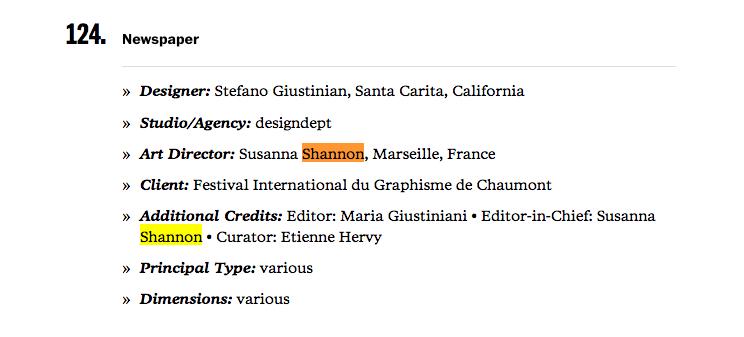 type directors' club : tdc : shannon : hervy : giustiniani : la life : quotidien du festival de chaumont : 2012 e